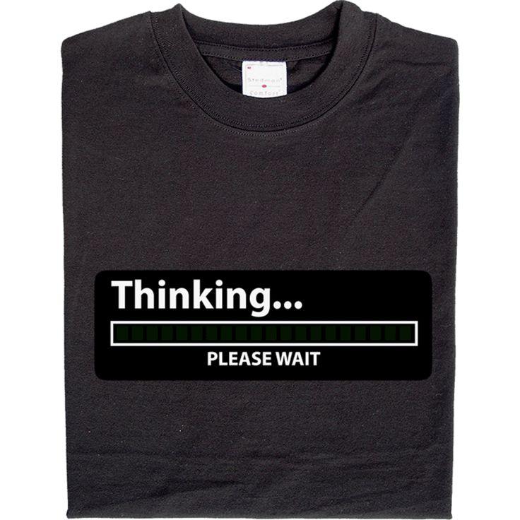 Thinking - animiertes Shirt! Der Fortschrittsbalken auf diesem Shirt ist wirklich animiert.