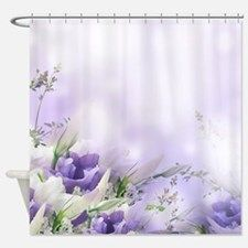 Beautiful Floral Shower Curtain for