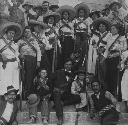 Las Adelitas (women soldiers) Part of a Mexican Revolution photo exhibit at Los Angeles Central Library (ends June 3, 2012)