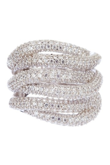Multi-Band Pave Ring by Adam Marc on @HauteLook