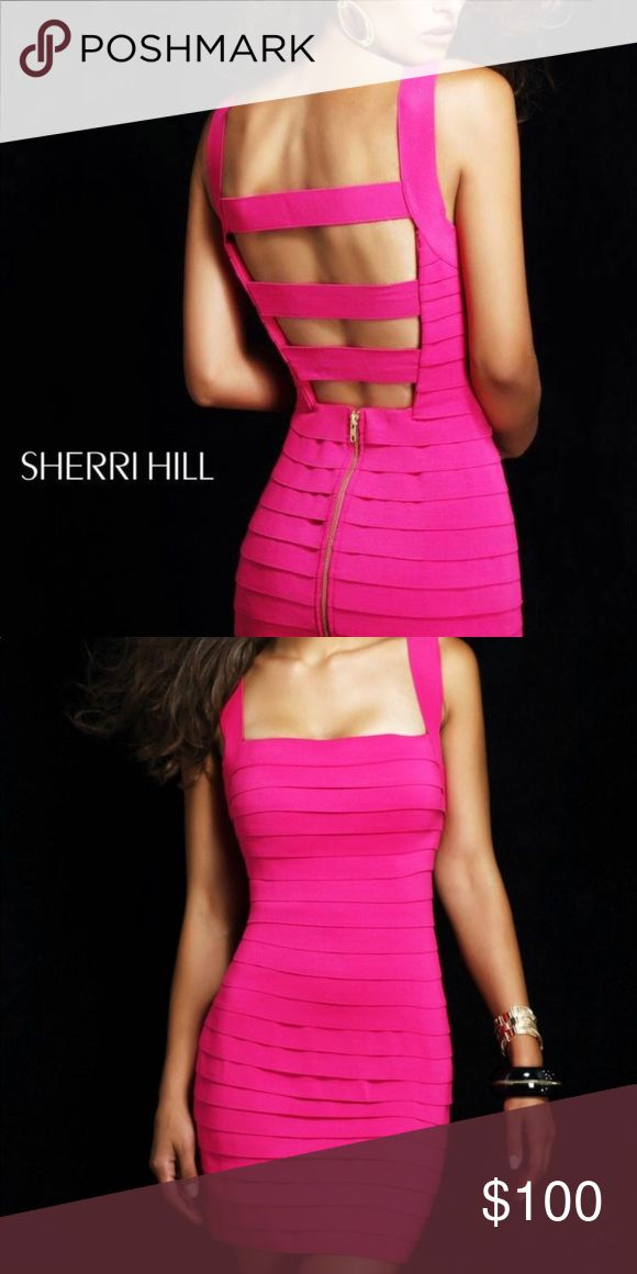 Hot pink Sherri Hill bandage dress hot pink bandage dress by Sherri Hill! Originally bought for $270 but am selling for $100. No alterations have been made and it's a size 4. Literally the most flattering dress you will ever ever wear Sherri Hill Dresses Mini