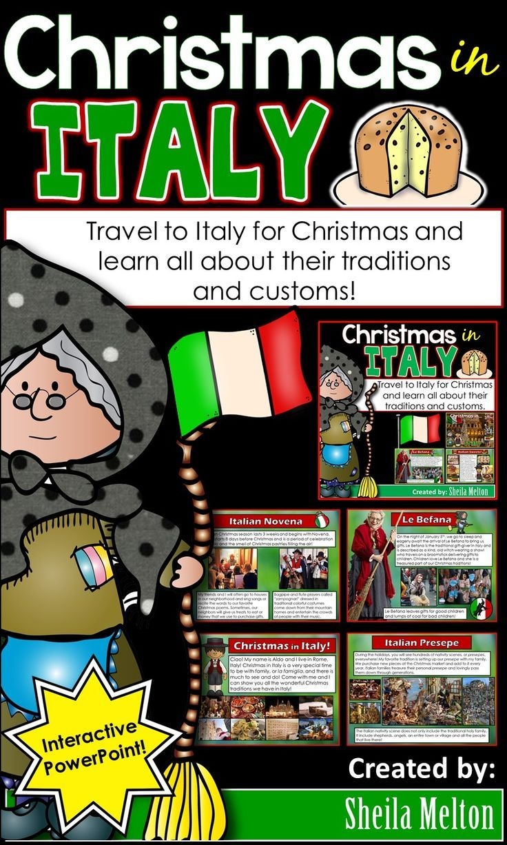 Christmas Around The World 2020 Christmas in Italy PowerPoint Christmas Around the World in 2020