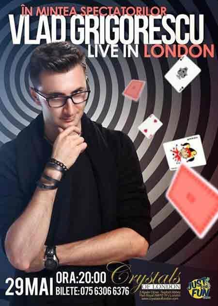 Magicianul Vlad Grigorescu Live in London