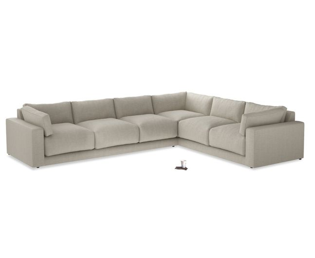Xl Right Hand Atticus Corner Sofa in Thatch House Fabric