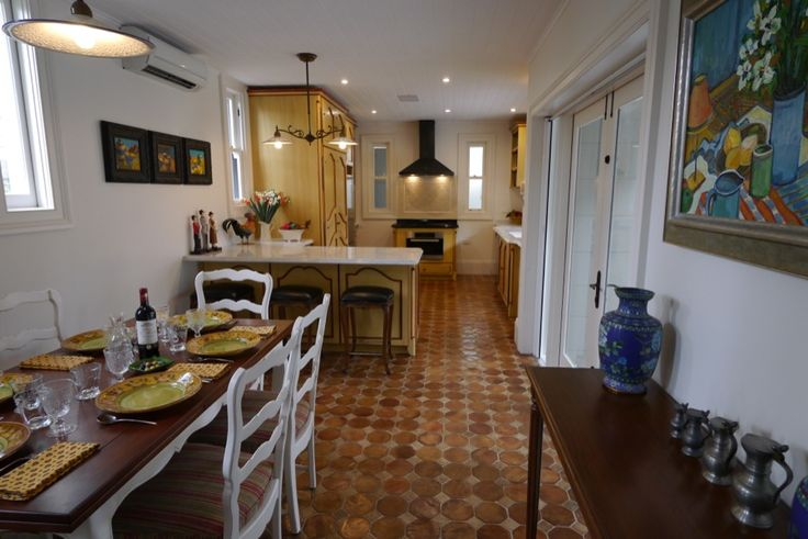 French provincial kitchen - warm colours, terracotta tiles and a menagerie of decorations adding your own personal touch - French provincial style in Sydney, Australia