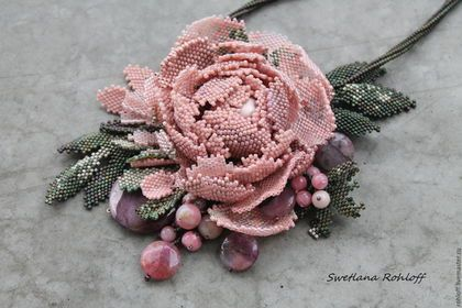 Купить Подвеска ,, Даже зимой пахнут розы малиной ,, - зелёный, браслет, комплект украшений, весна
