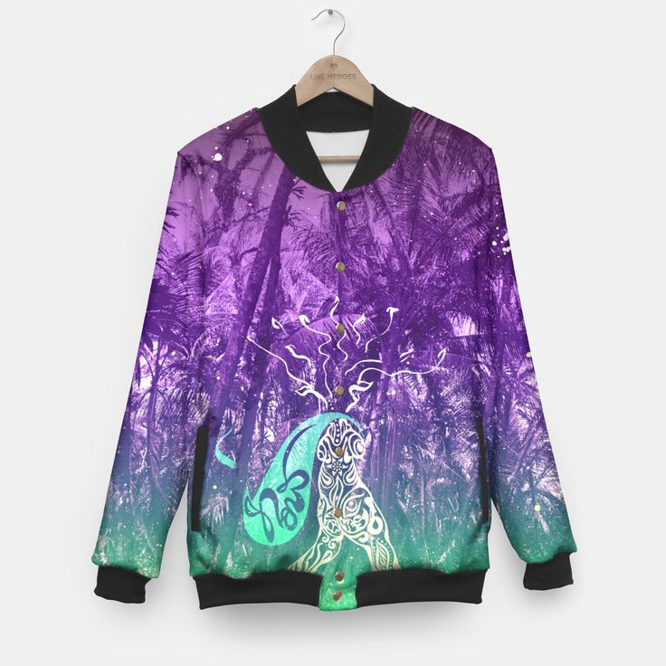 One of it's kind, unique full print baseball jacket. Wear exceptional baseball jacket with your own graphic project and stand out fromthe crowd! Choose form marihuana, emoji, skulls, galaxy or any other custom design.Stylish and comfy - no matter how often you wash it, the print won't fade away and won't loose its shape.Live Heroes guarantees the highest quality of all products purchased. If your order isn't what you expected, feel free to contact our Customer service team....