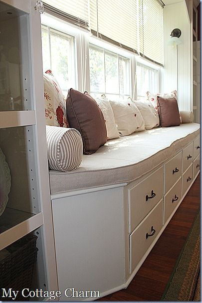 My Cottage Charm: How to Build A Window Seat