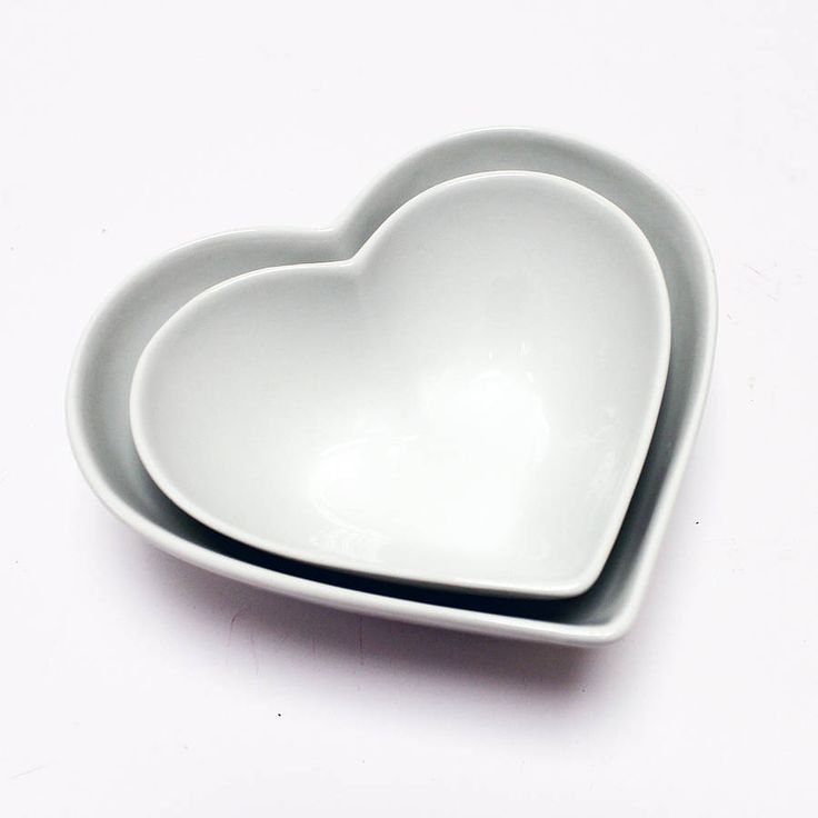 heart shaped bowls set of two by lindsay interiors | notonthehighstreet.com