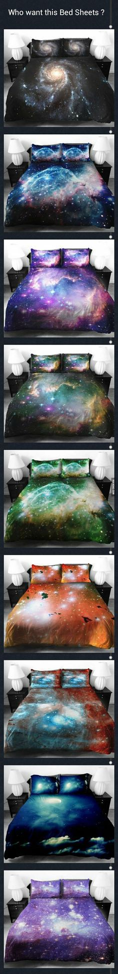 Who wants these Universe Bed Sheets? Shut up & take my money! I WANT THEM ALL