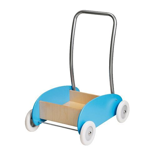 "Also in the ""EKORRE"" family. Rockam likes to push Stephen in this wagon from IKEA."