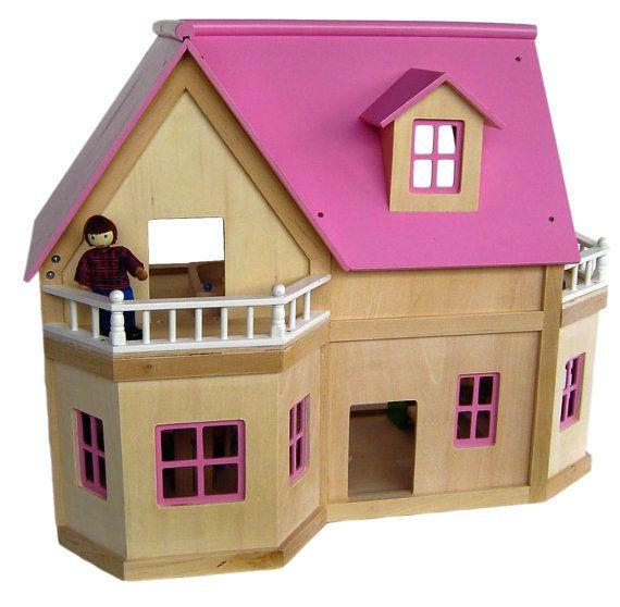Large Wooden Dolls House by JaimesLullaby on Etsy