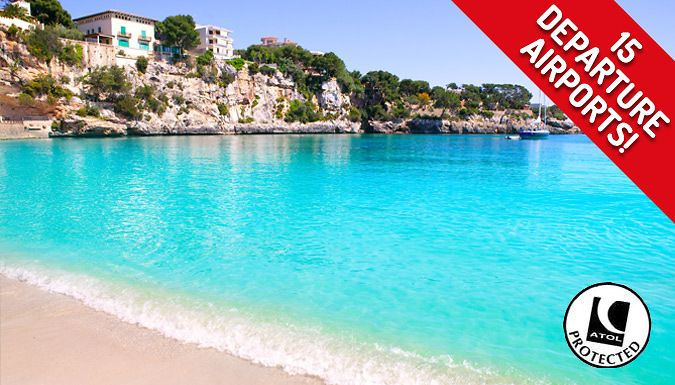 UK Holidays: Mallorca, Spain: 3, 5 or 7-Night All-Inclusive Hotel Stay With Flights - Up to 45% Off for just: £99.00 Summer holiday away for 3, 5 or 7 nights at the best of the Balearic Islands; Mallorca      Known for beach resorts, sheltered coves, limestone hills and citrus plantations      Stay at the Blue Sea Costa Verde or the Sahara Bay/Nubia Bay/Gobi Bay Hotel      Other options...