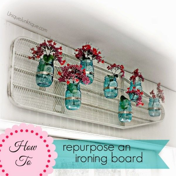 Repurposing old things into something new and useful is one of my favorite things to do. Let me show you what to do with an old ironing board.