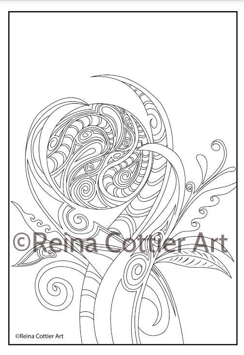 Coloring Book. ~ Reina Cottier Art.  View or Buy here; https://www.etsy.com/listing/240707291/reina-cottier-art-colouring-book-for?ref=shop_home_feat_1