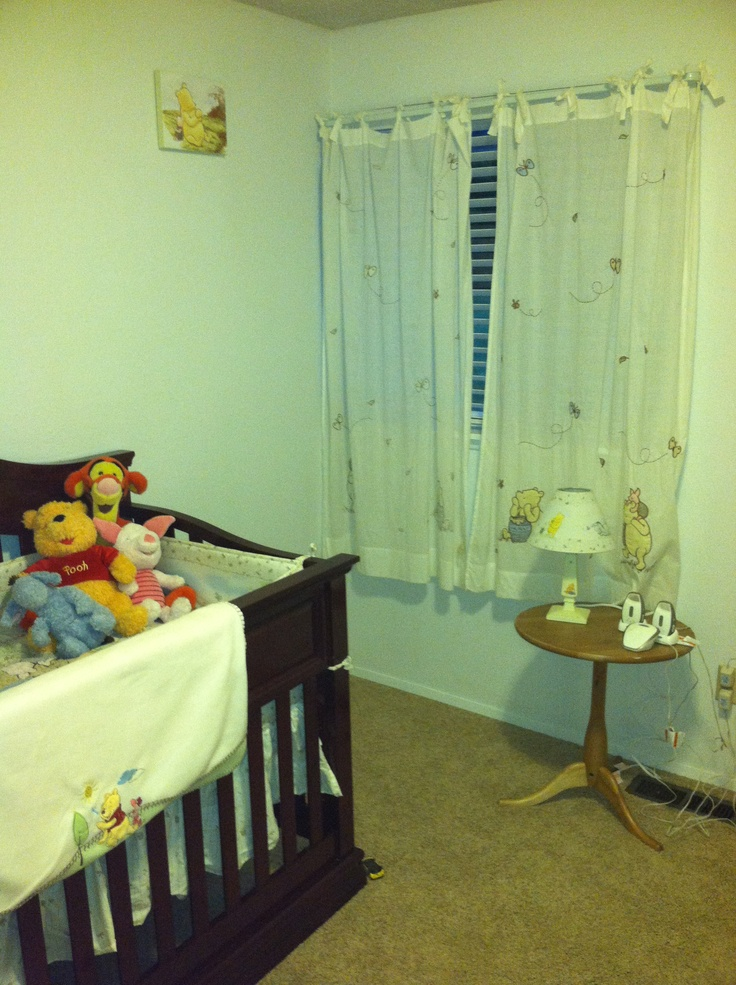 Winnie the Pooh curtains and lamp Winnie The Pooh Lamp
