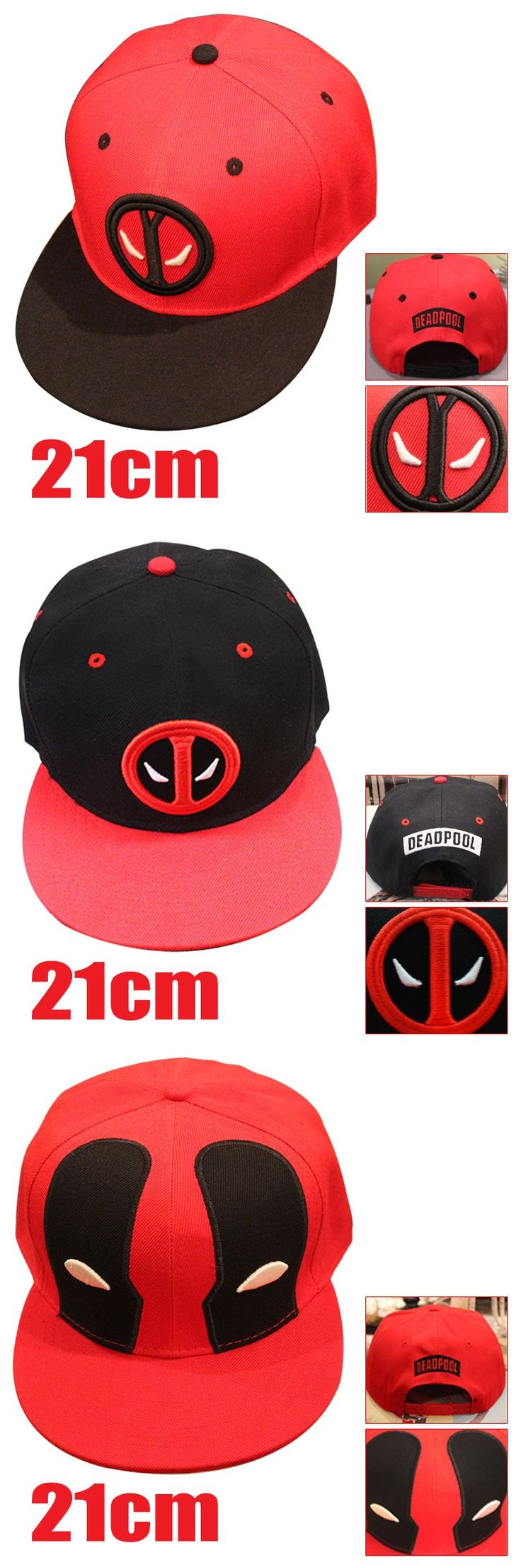2016 New Fashion Deadpool Hip Hop Snapback Cap Summer Cap Hat Baseball For Men Women Gorras Casual Bone  Free Shipping