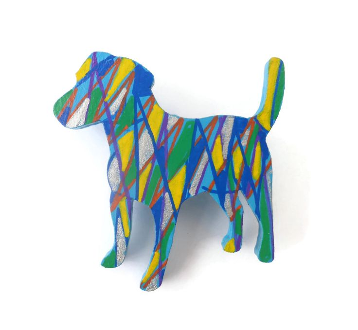 Jack Russell Brooch, Dog Lover Gift, Hand Painted Jewelry, Handmade Brooch, Laser Cut Jewelry, Animal Brooch, Dog Pin, Dog Jewelry by Larryware on Etsy