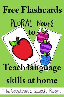 Plurals Freebie for Speech Therapy