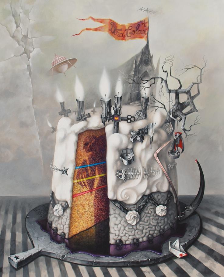 Peace off Cake  acrylic on canvas  100x80