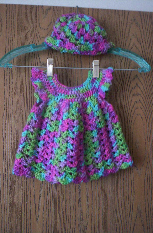 Cute  Baby girl's dress & Hat Set.