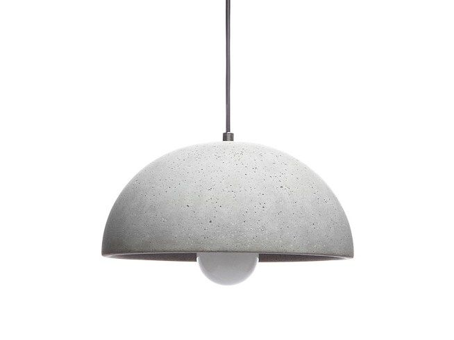 Download the catalogue and request prices of concrete pendant lamp Globus 280, Lucendi collection to manufacturer Urbi Et Orbi