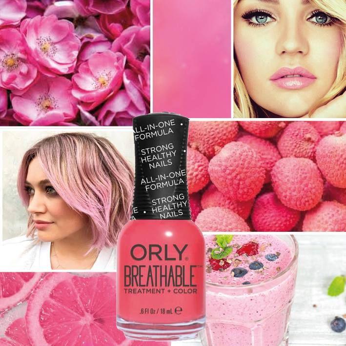 ORLY Breathable Nail Superfood is een roze kleur nagellak. ORLY Breathable is treatment en kleur in één. Een zuurstof doorlatende nagellak die zorgt dat de nagel gehydrateerd blijft. Deze nagellak is voorzien van Argan Oil, Pro-Vitamine B5 en Vitamine C. Bij de ORLY Breathable heb je geen basecoat en topcoat nodig.
