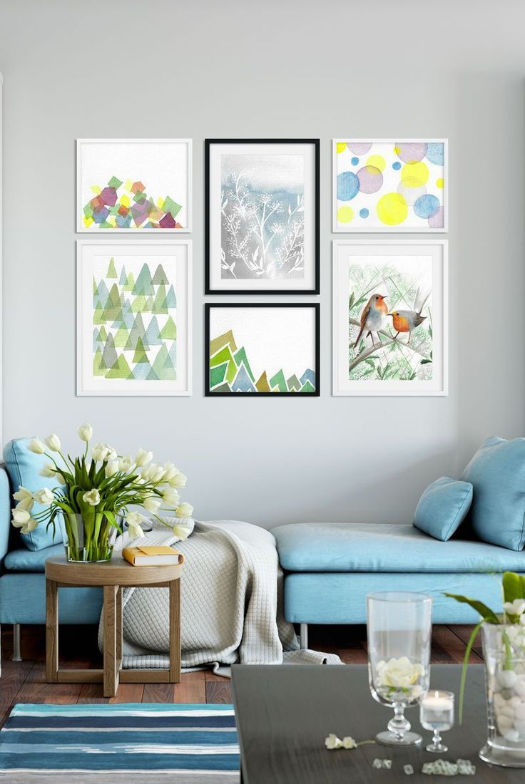 Beautiful Watercolor Art Prints Modern Bold Feminine Watercolor