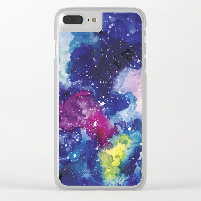Buy Galaxy Watercolor Clear Iphone Case By Newburydesigns