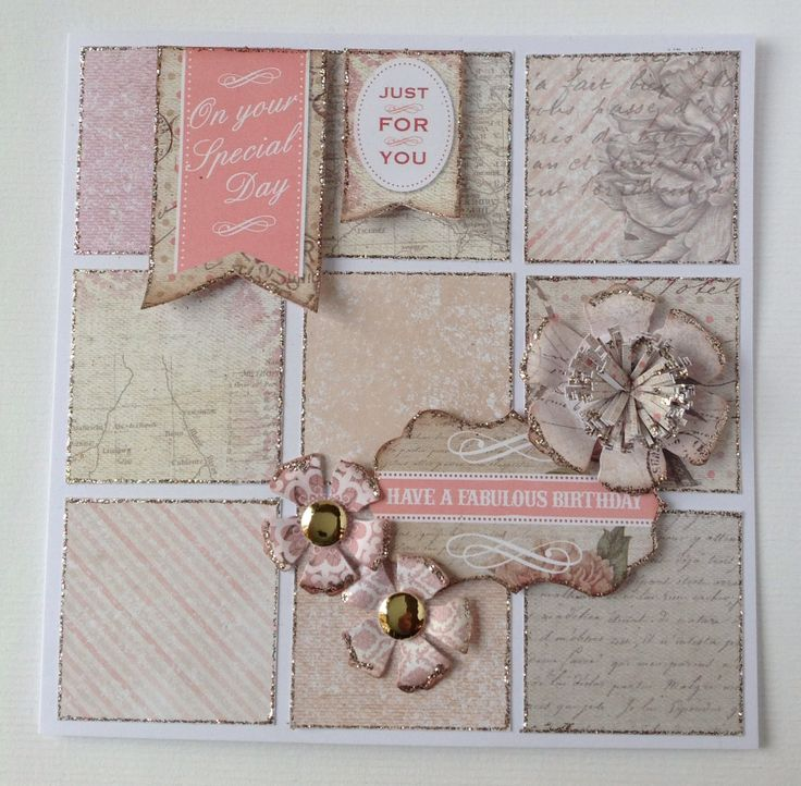 Card designed using Correspondence Collection.