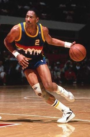 Alex English, who played for the Denver Nuggets from 1980 to 1990.
