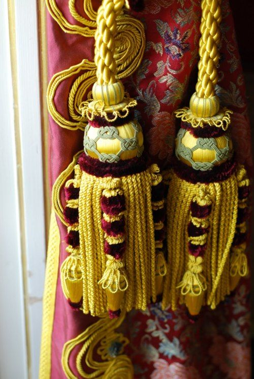 Gorgeous tassels and drapes.