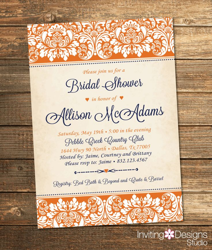 Elegant Bridal Shower Invitation Wedding Shower Invitation