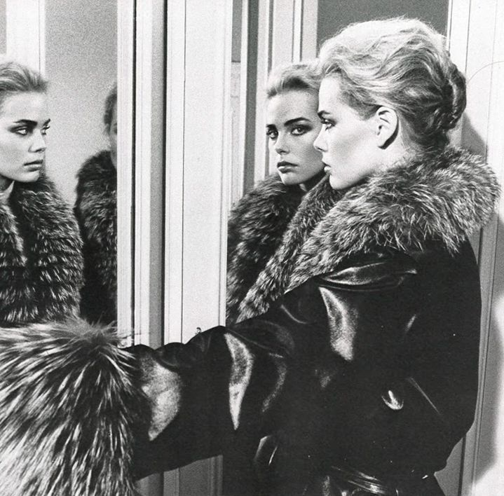 Margaux Hemingway by Helmut Newton for Vogue Paris October 1975