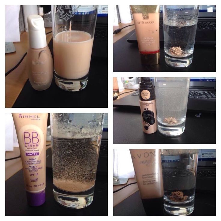 Wow.. our foundation in water compared to other brand foundations in water. Imagine what these do to your skin!