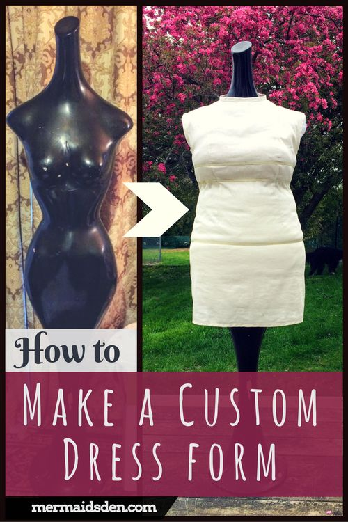 Make a Custom Dress Form by Padding a Mannequin. Free sewing tutorial!