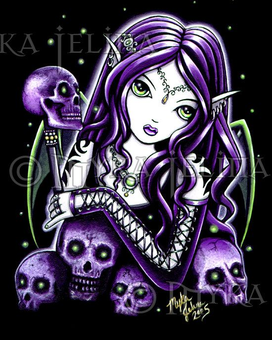 215 best beautiful paintings images on pinterest for Skull fairy tattoos