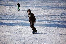 Snowskate at Buck Hill, MN Zombie Boardshop sweatshirt