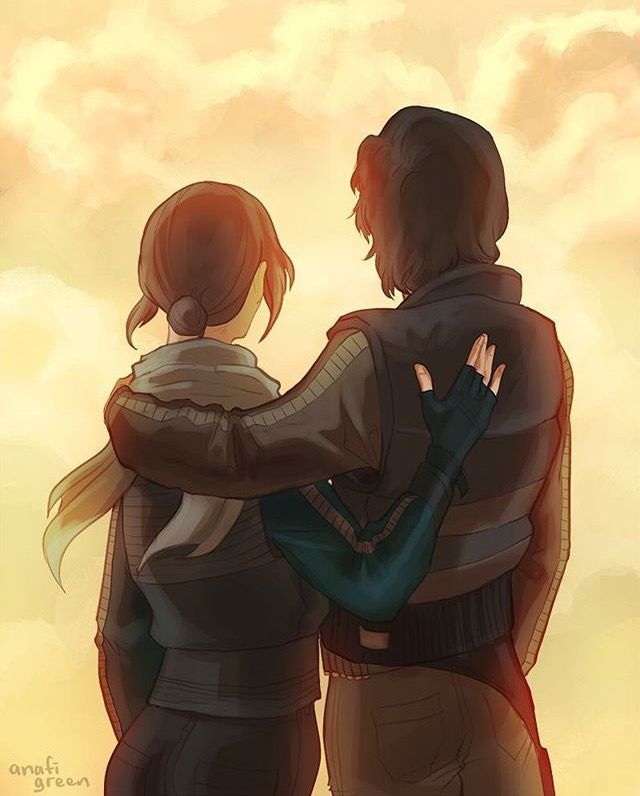Cassian and Jyn<<<<<CRYING
