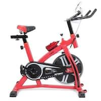 Akonza Pro Stationary Exercise Cycling Bicycle Heart Pulse Trainer Bike w/ Bottle Holder, Red