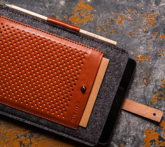 The Ostfold 698 iPad case is a wool and leather protective sleeve designed to protect your device from wear and tear.