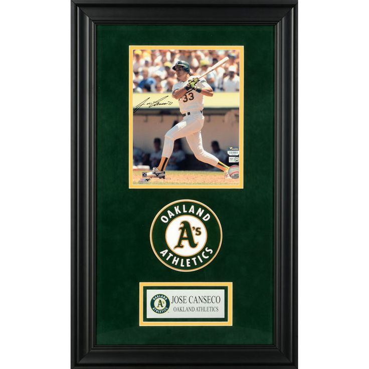 "Jose Canseco Oakland Athletics Fanatics Authentic Deluxe Framed Autographed 8"" x 10"" Swinging Photograph"