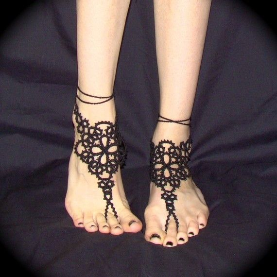 tatted barefoot sandals pattern - Cerca con Google