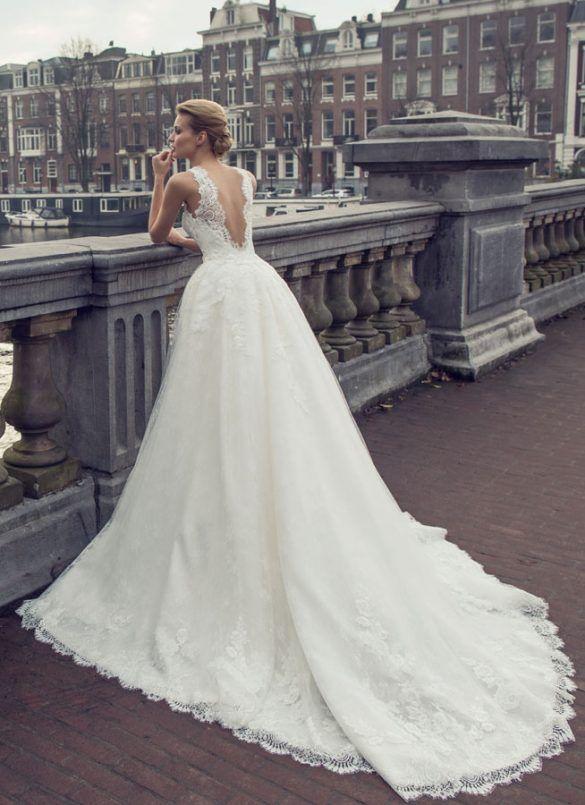 Kleid lang spitze rückenausschnitt