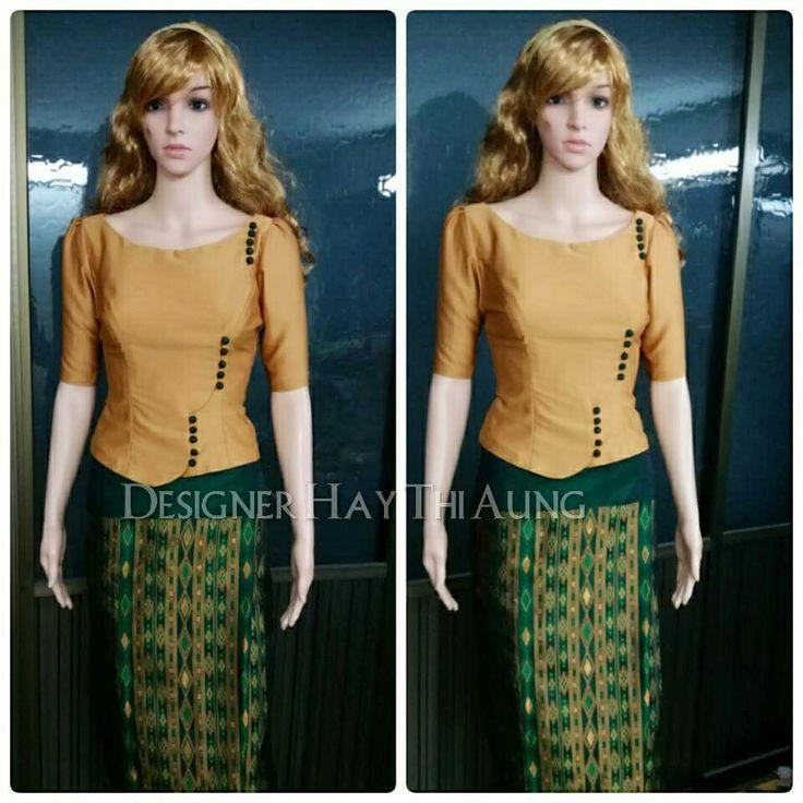 Simple Myanmar Dress
