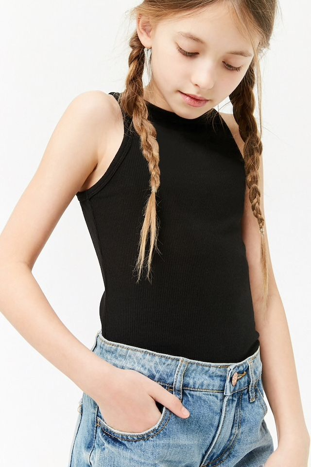 8303aa4f31e6 Girls Ribbed Knit Bodysuit (Kids) in 2019 | Kids styling at F21 | Girls  bathing suits, Corduroy overall dress, Clothes
