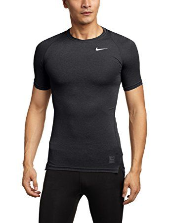 Nike Herren Unterhemd Pro Cobat Cool Compression SS, Black/Dark Grey/White,L,703094