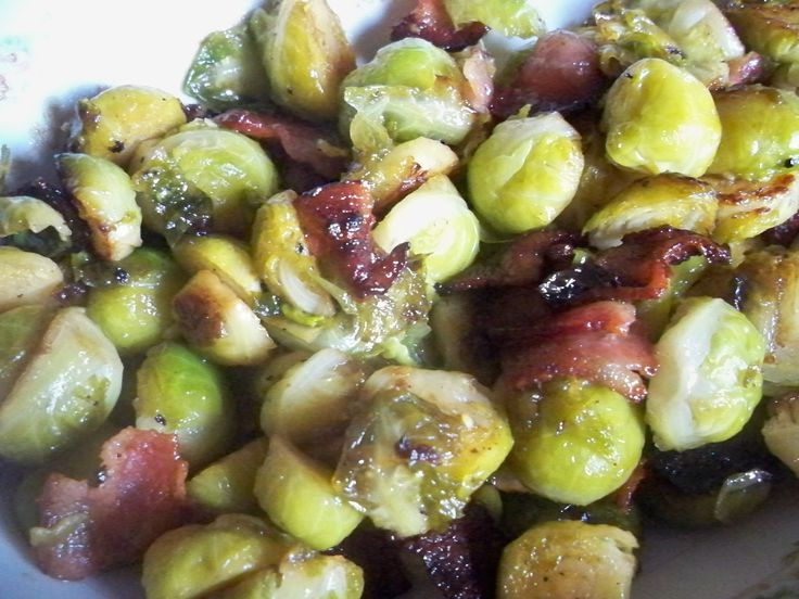 Copy Cat of Ruth's Chris Brussels Sprouts with Bacon