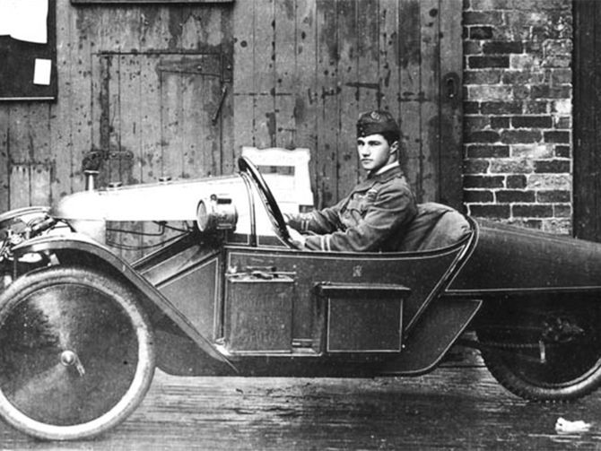 Captain Albert Ball - VC DSO MC - Air ace of World War 1 in his Morgan Three Wheeler. One of the most celebrated pilots of WW1 - a Victoria Cross winner, DSO and two bars, Military Cross, Legion of Honour, Croix de Chevalier, Order of St. George (Russia), and Honourary Freeman for the city of Nottingham and was given the key to the city when he was home on leave training pilots. He died May 7, 1917 at the age of 20 with 44 victories confirmed and 25 unconfirmed.