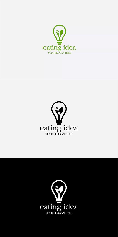 Eating Idea Logo Template AI, EPS